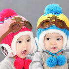 Cute Baby Toddler Winter Beanie Warm Hat Hooded Scarf Earflap Knitted Cap Kid