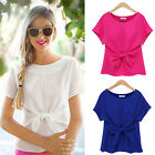 CHIC Fashion Womens Ladies Short Sleeve Casual Chiffon Shirt Tops Blouse T-Shirt