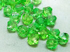 6mm 200/400/600/800/1000pcs GREEN FACETED ACRYLIC PLASTIC BICONE BEADS TY3003