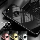Hybrid 360° Hard Slim Mirror Case + Tempered Glass Cover For iPhone 6 6S 7 Plus