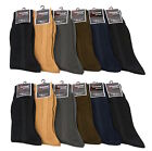 3 6 12 Mens Dress Black Color Casual Fashion Crew Lot Dozen Socks Knocker 9-11