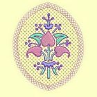 Heirloom Flowers Embroidery & Redwork Singles - DESIGN 3 - 4x4 And 5x7