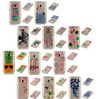 For Samsung Galaxy J1 2016 J120 Bumper Patterned Transparent Soft Silicone Cover