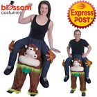 K363 Monkey Unisex Carry Me Piggy Back Ride On Mascot Costume Party Funny Outfit