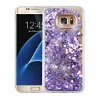 For Samsung Galaxy S7 / Edge Bling Hybrid Liquid Glitter Rubber TPU Case Cover