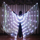 rechargeable LED isis wings belly dance club light up costume free sticks bag