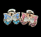 2 new women jewelry claw hair accessories barrette butterfly clip crystals comb