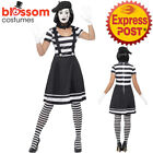 CA282 Ladies Mime Artist Mesmerizing Costume French Clown Circus Funny Make Up