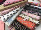 """DESIGNER 100%  cotton 45""""cm wide fabric camper van, buttons, sewing,music"""