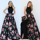 Womens Lace Floral Maxi Long Retro Dress Evening Party Wedding Prom Ball Gowns
