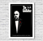 The Godfather Movie Poster Print, Classic, Wall Art, Picture, Home Decor, #009