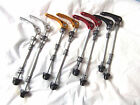 NEW Front and or Rear QUICK RELEASE WHEEL SKEWERS, red black gold silver blue