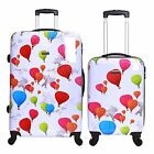 Set of 2 Hard XL Hold Cabin Carry On Hand Luggage Trolley Suitcases Cases Bags
