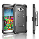 Shockproof Hybrid Clip Holster Phone Case Cover with Built-in Screen Protector