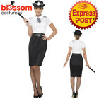 CA286 British Police Lady Uniform Cops & Robbers Woman Dress Costume Hat Outfit