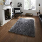 MODERN 6cm PILE SILVER RUG LIVING ROOM SOFT SPARKLE MONTE CARLO SMALL LARGE NEW