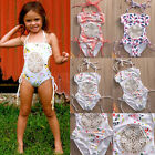 Adorable Kids Baby Girl Splicing Bikini One-Piece Swimwear Swimsuit Bathing Suit