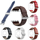 Genuine Leather Band Strap Bracelet Watchband For Apple Watch iWatch 38mm/42mm