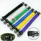 Survival Bracelet With Whistle 550 Paracord Outdoor Wristband Buckle Camping