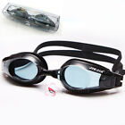 UV Prescription Anti-fog Swimming Goggles Optical Corrective Myopia Lenses Black