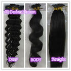 """18""""-32"""" Stick I-Tip Human Hair Extensions Straight Curly Wavy #2 Darkest Brown"""