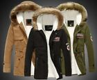 2017Mens Warm Fur Collar Hooded Parka Winter Thick Down Coat Outwear Down Jacket