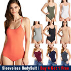 New Fashion Active Women Lady Sleeveless BodySuit Stretch Top Spandex T-Shirt