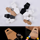 50Pcs Jewelry Necklace Bracelet Hanging Holder Jewerly Display Paper Cards TB