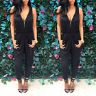 UK Womens Ladies Clubwear V Neck Playsuit Bodycon Party Jumpsuit Romper Trousers