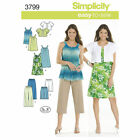 Simplicity Easy SEWING PATTERN 3799 Misses Dress/Tunic,Trousers/Shorts & Jacket