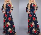 Women Ladies Long dress Flower Fashion Cocktail Dresses Muslim Islamic Abaya New