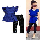 2PS Toddler Kids Baby Girl Outfits Clothes T-shirt Tops Dress+Legging Pants Set′