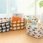 New Linen Folding Desk Organiser Makeup Cosmetic Jewelry Box Storage Box