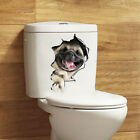 1pc Creative 3D Broken Dog Wall Decorative Stickers For Toilets Home Decorations