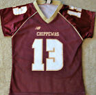 CENTRAL MICHIGAN CHIPPEWAS LADIES NCAA FOOTBALL JERSEY #13 NEW! MED., LG. OR XL