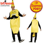 CA321 Mr. Banana Mens Fancy Dress Food Funny Fruit Stag Jumpsuit Humour Costume