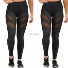 Women's Mesh Panels Workout Sports Ladies Gym Yoga Long Leggings  Pants
