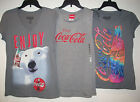 NEW Juniors COKE Coca-Cola Gray/Grey T-Shirts or Tank Top Choose style & Size