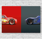 Cars, Lightning McQueen Poster, Childrens Large Photo, Print, Picture, #022