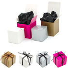 Cube Shaped Glossy Single Cupcake Muffin Wedding Favour Gift Boxes 2 Sizes
