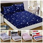 Fitted Sheet Floral Color Twin Full Queen King Cotton Bed Sheet Cover 3 Size Hot image