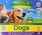 VERM-X NATURAL DOG HERBAL CRUNCHIES WORM CONTROL  100g 325g PACKS AVAILABLE