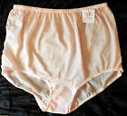 Plus-Sizes 9-12 Double-Layer Nylon-Crotch Panties SofterSilk Made in USA NEW