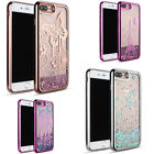 Liquid Waterfall Bling Shiny Glitter Case For iPhone 7, 7 Plus TPU Chrome Glossy