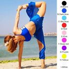 Belly Dance See Through Sheer Harem Yoga Genie Pants Side Slit Trousers Costumes