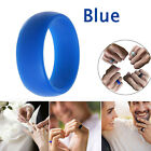 Silicone Wedding Engagement Ring Men Womens Jewelry Rubber Band Flex Gym Sport