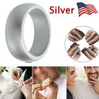 5/1X Silicone Wedding Engagement Ring Men Women Rubber Band Gym Sport Flexible <br/> 8/9/10/11/12 Ring Size✔5 Color for Choice✔US FAST SHIP✔