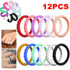 1x 5x Silicone Wedding Engagement Ring Women Man Rubber Band Outdoor Sports Work