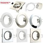 4x 10x Tilt Ceiling Light Downlights Recessed Fitting Spotlight for GU10 bulbs