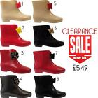 Womens Ladies Garden Rubber Short Bow Ankle Wellington Boots Wellies Sizes 3-8